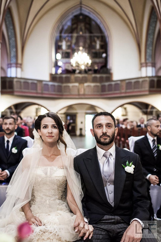 portret pary młodej podczas ślubu w szczeciku