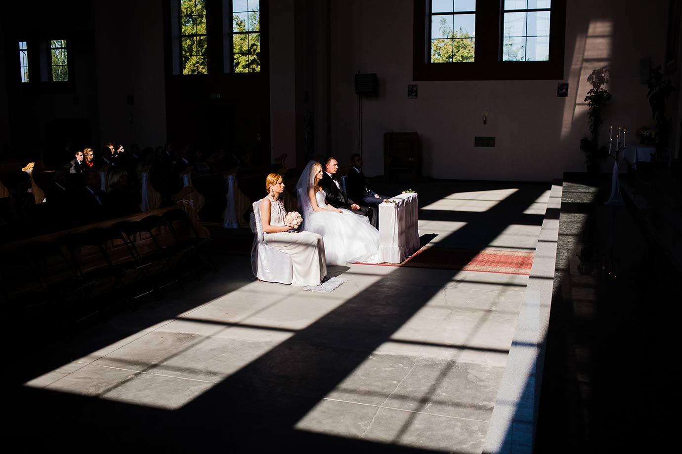 światłocień w fotografii ślubnej