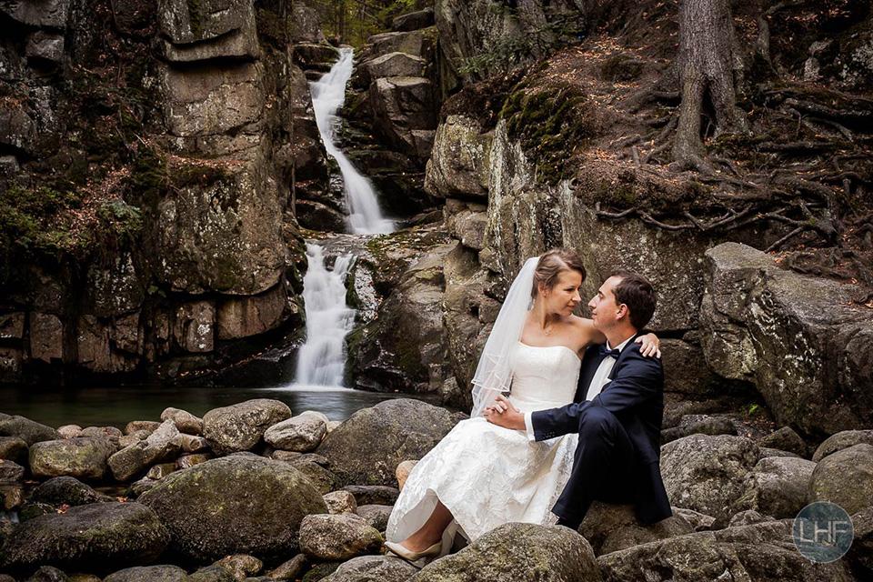 wodospad na sesje ślubną