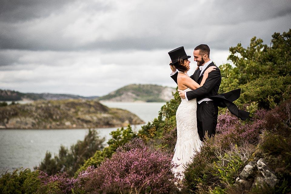 sesja ślubna nad morzem północnym