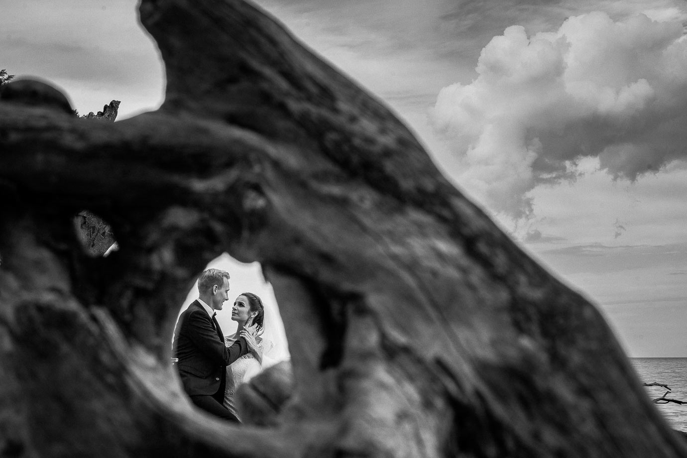 wyjazd z suknią ślubną na rugie