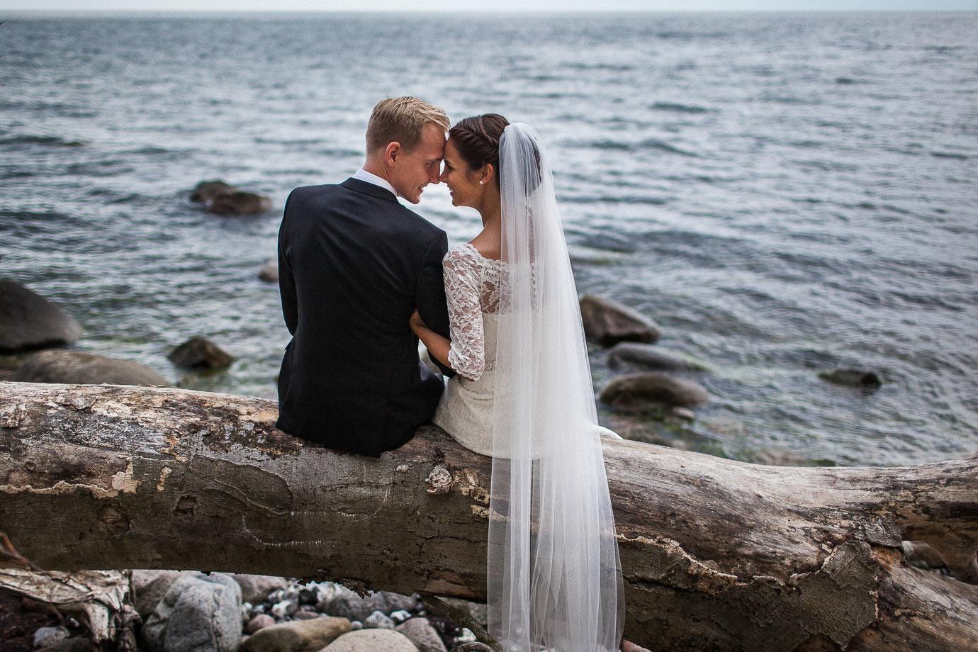 sesja ślubna nad morzem bałtyckim