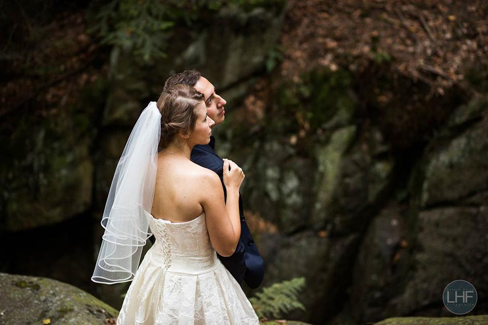 fitografia ślubna w skałach