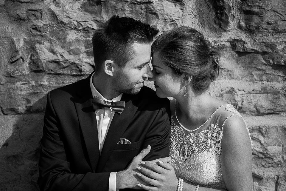 czarno - biała fotografia ślubna