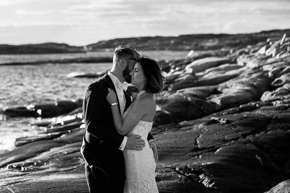 czarno biała sesja ślubna