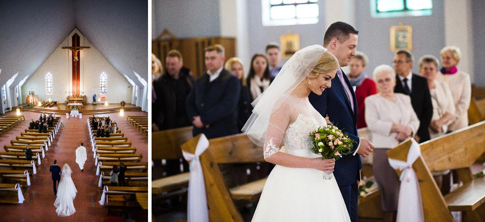wejście do kościoła przed ślubem
