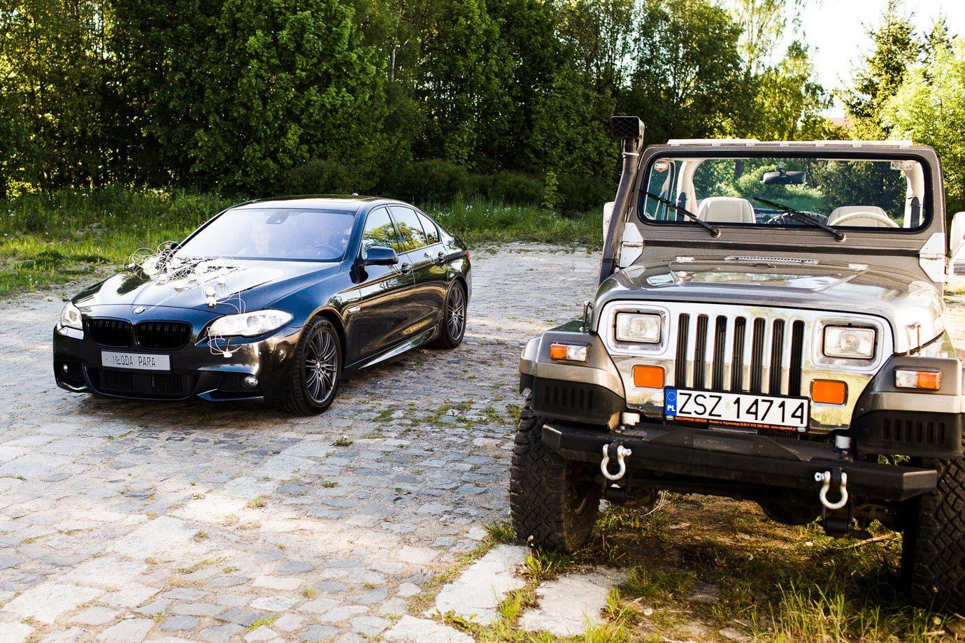 jeep do ślubu