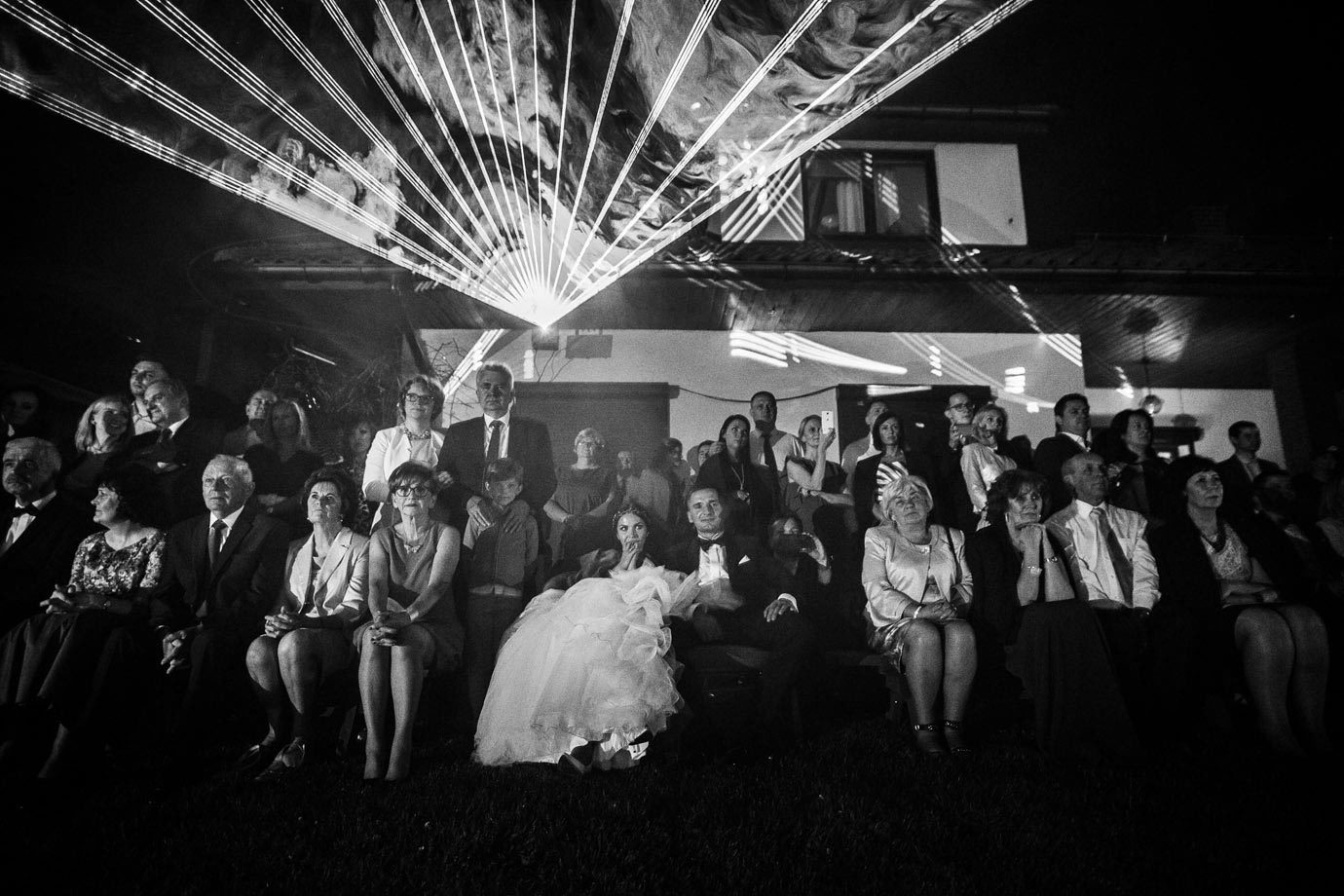 pokaz laserów na weselu