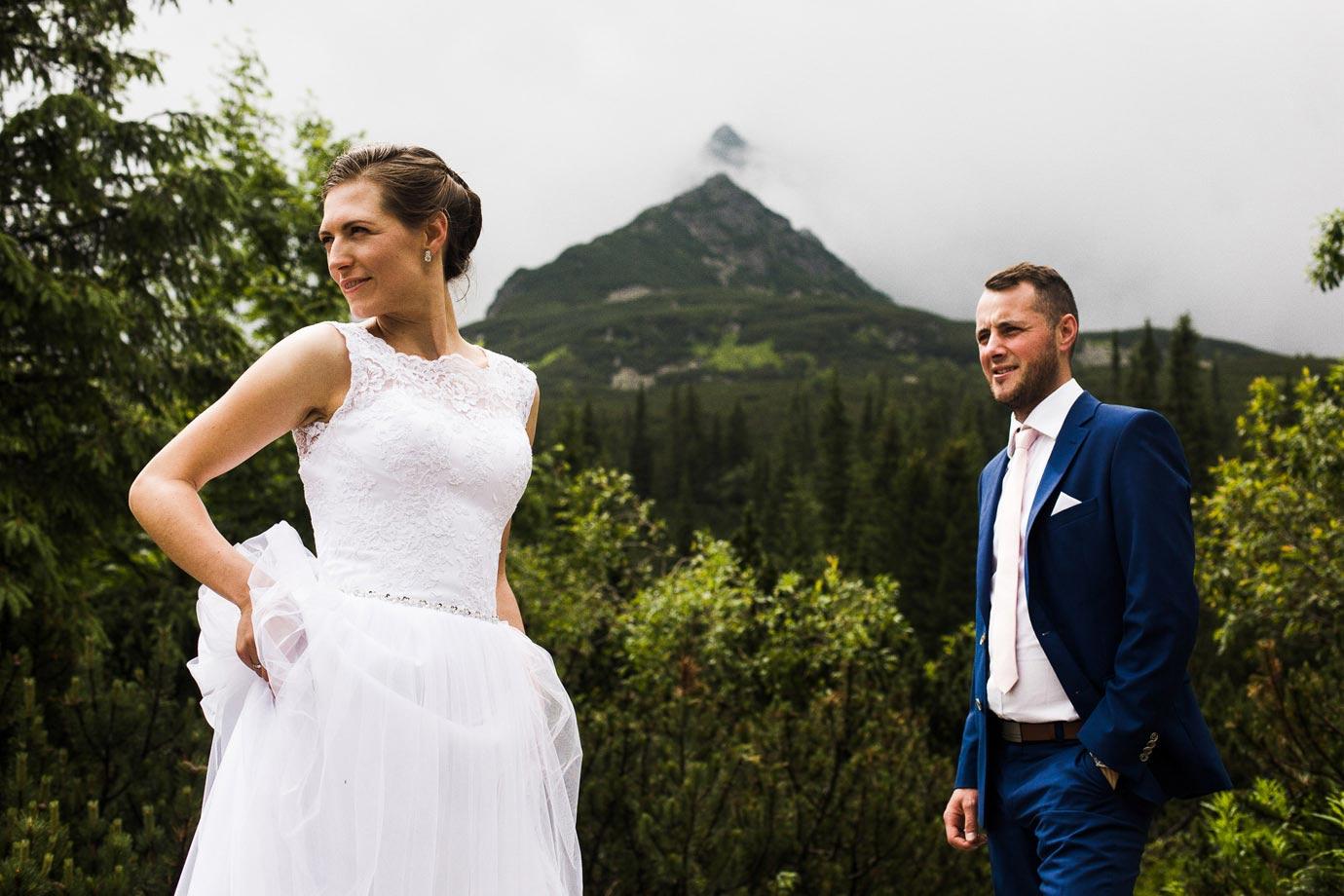 górskie sesje ślubne