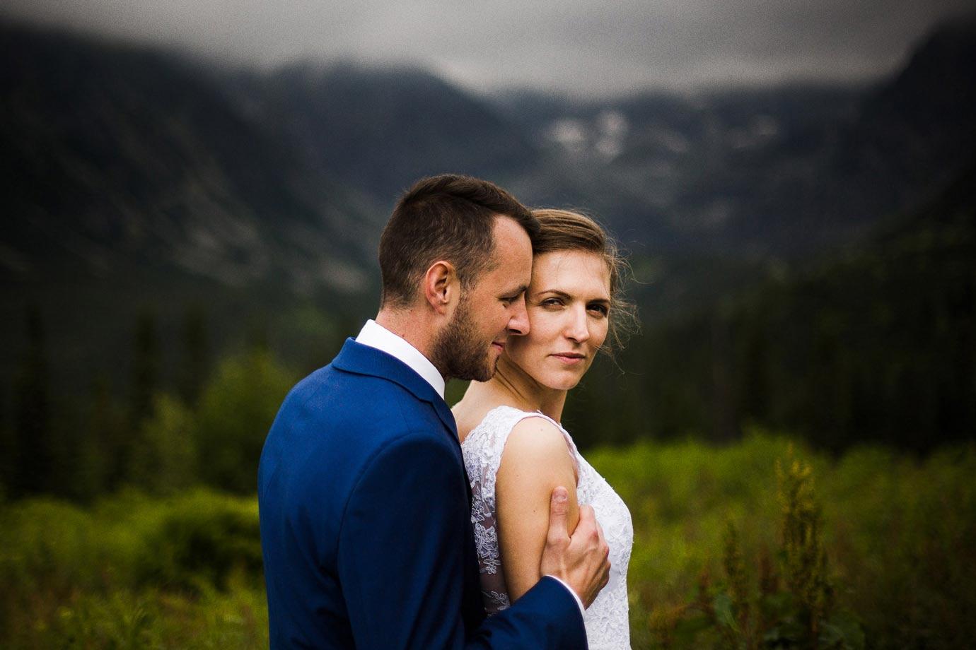 Portret ślubny w górach