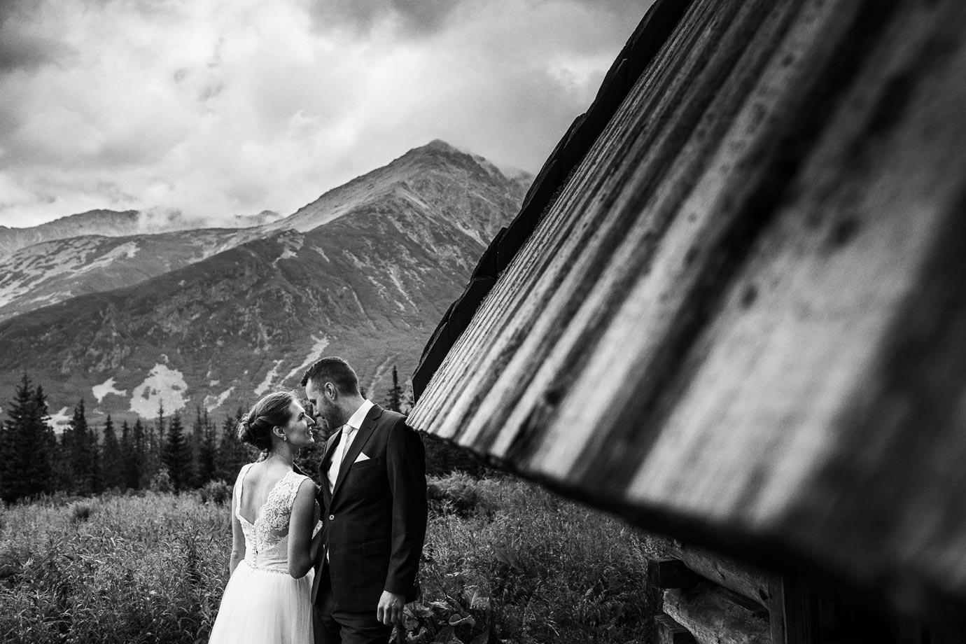Krajobraz górski do ślubu