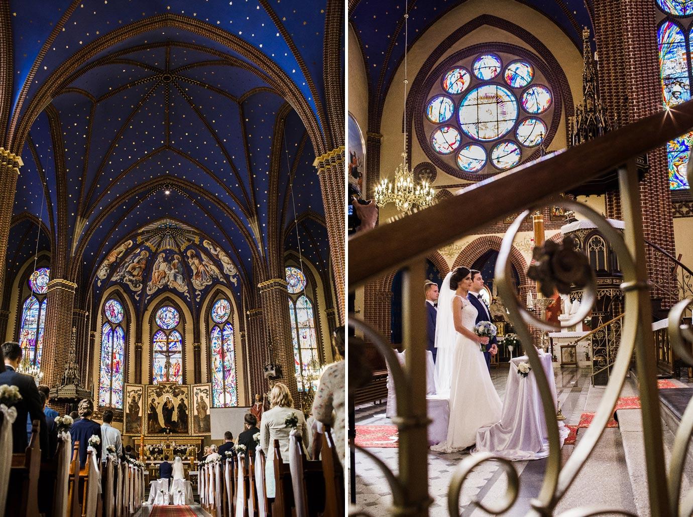 ślub w ładnym kościele w Szczecinie