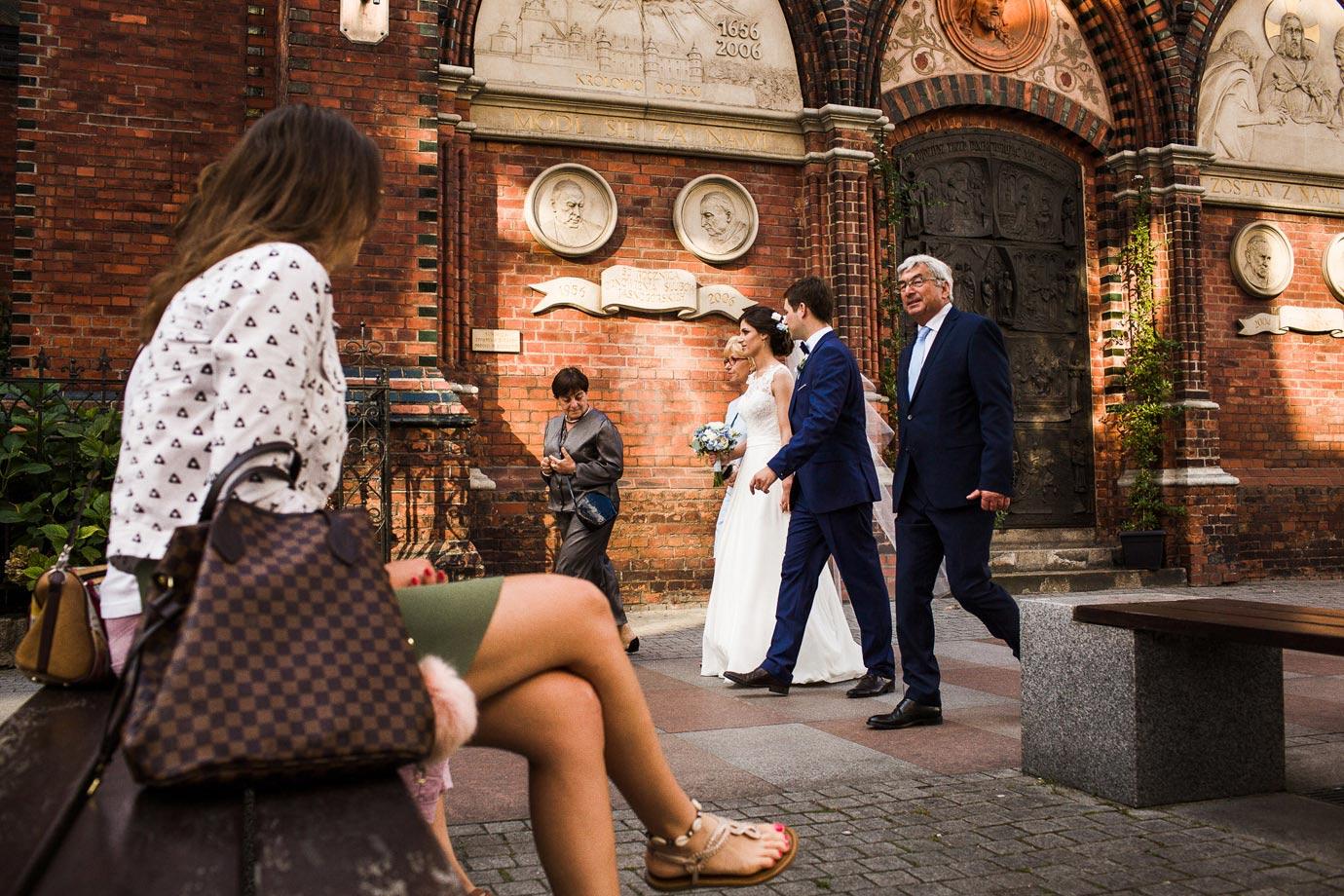 ślub w centrum miasta