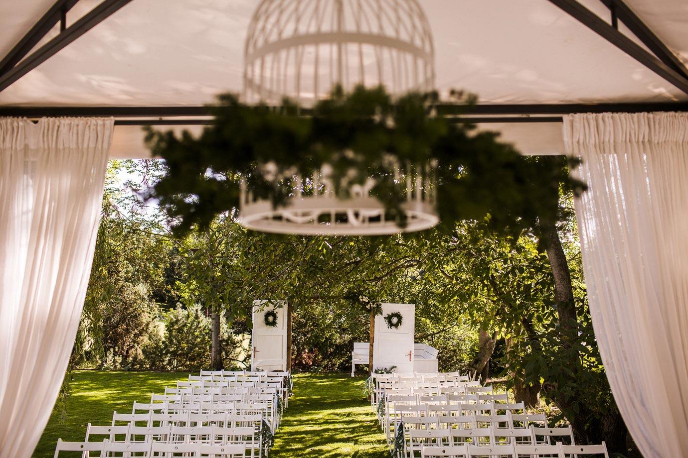 ślub w plenerze, dekoracje