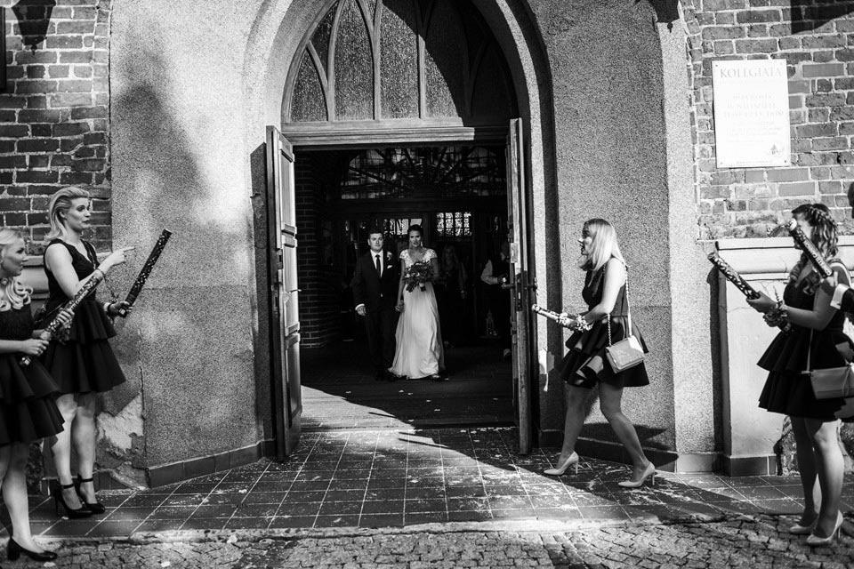 wyjście z kościoła