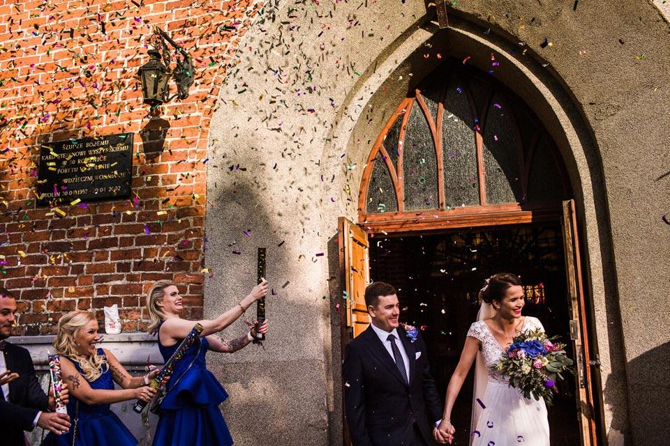 konfetti na ślub