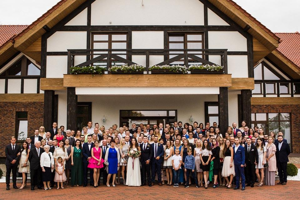 grupowe zdjęcie ślubne