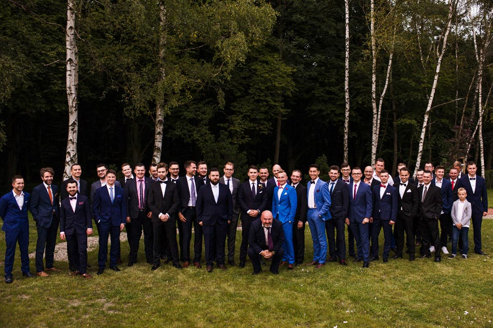 zdjęcia na weselu z kolegami