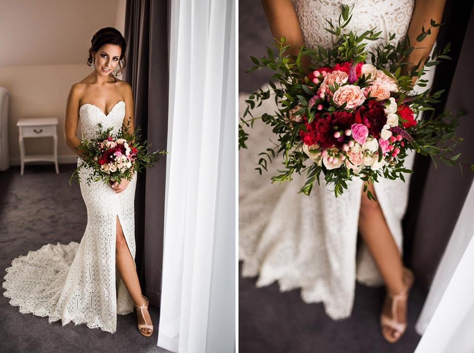 suknia ślubna z odkrytymi udami