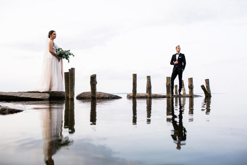 sesja ślubna nad zalewem szczecińskim