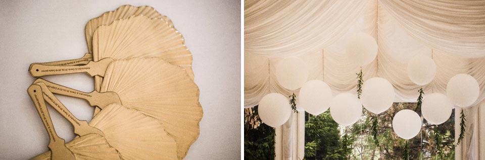 złote dekoracje ślubne