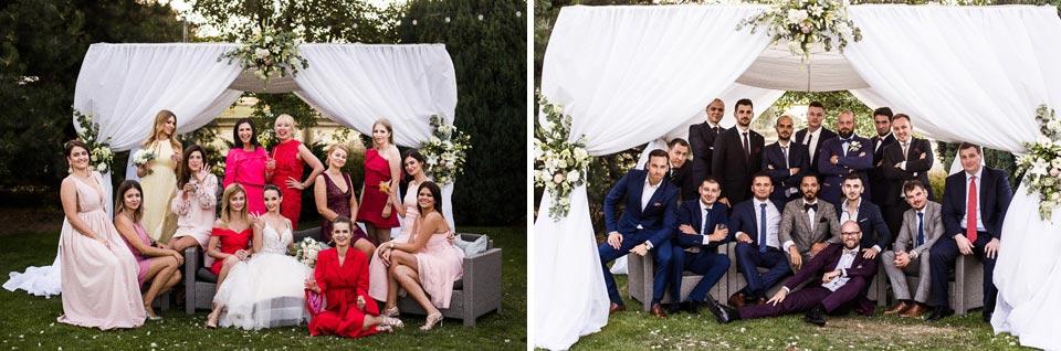 Zdjęcia na weselu z koleżankami i kolegami