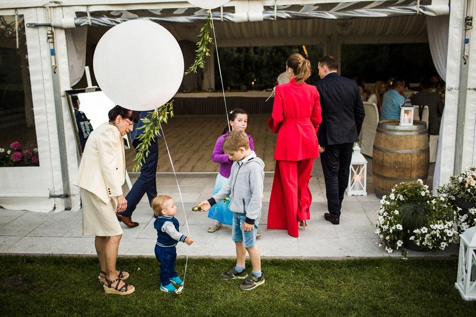 duże balony na wesele