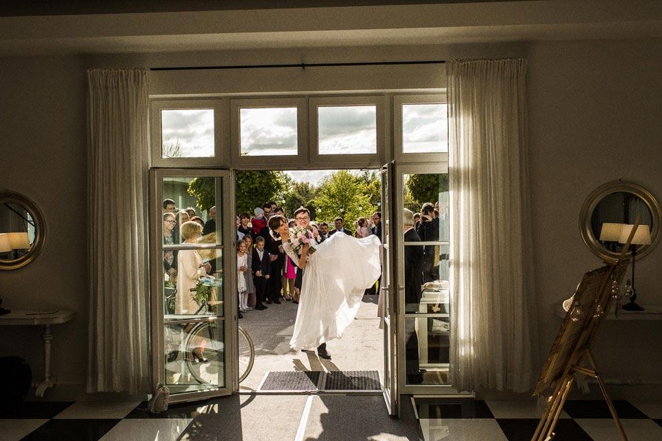 wejście na sale weselną