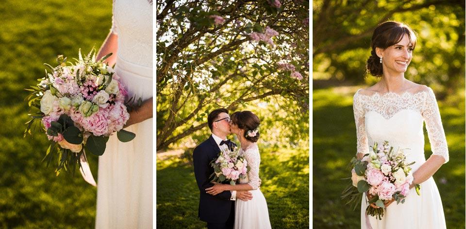 krótka sesja plenerowa w dniu ślubu
