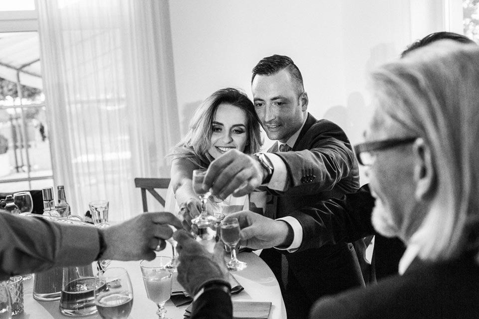 wesele biała wstążka