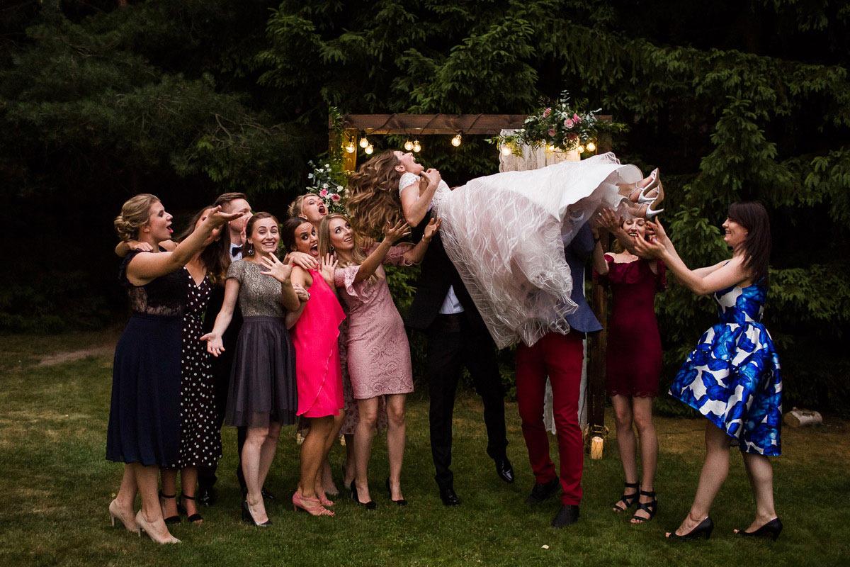 grupowe zdjęcia ślubne
