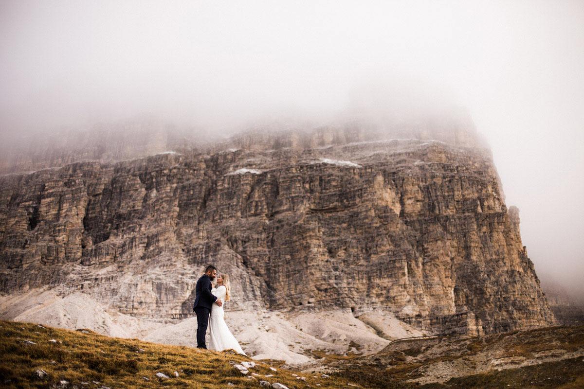 sesja ślubna w dolomitach