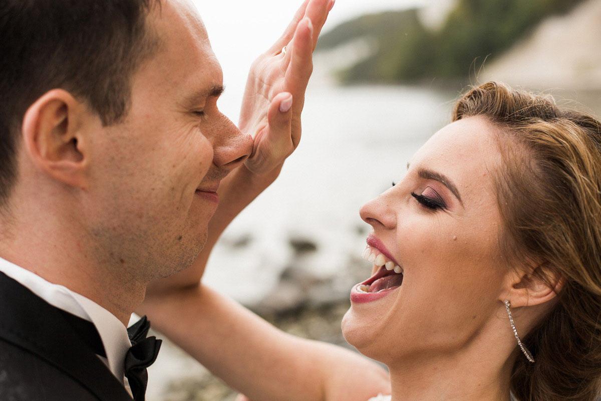 zabawna fotografia ślubna
