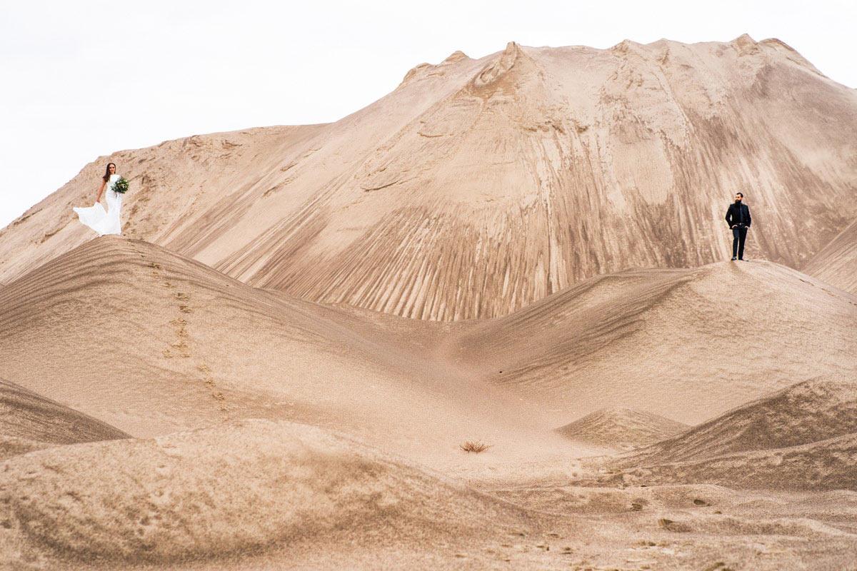 sesja plenerowa na pustynia