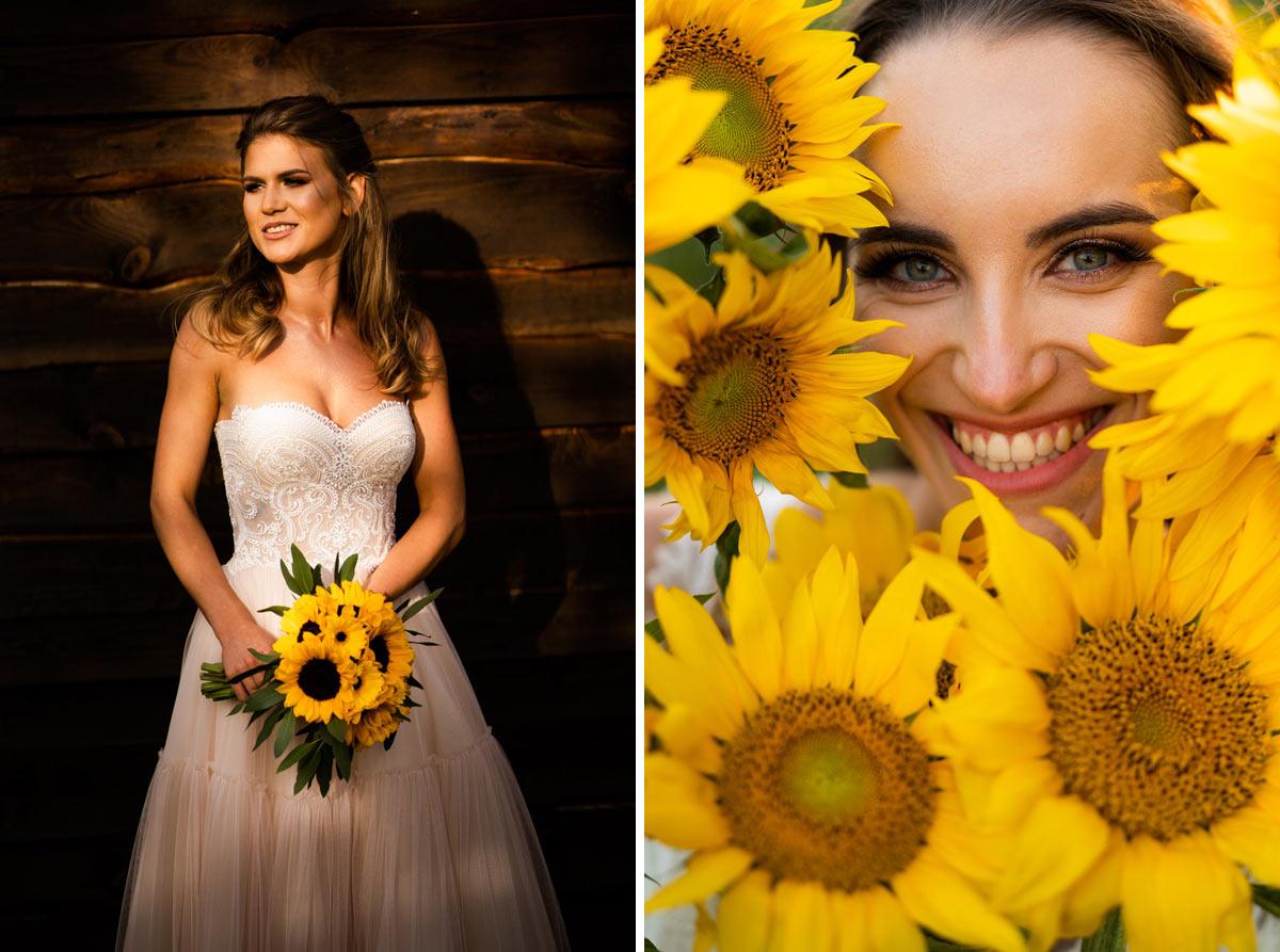 słoneczniki do ślubu
