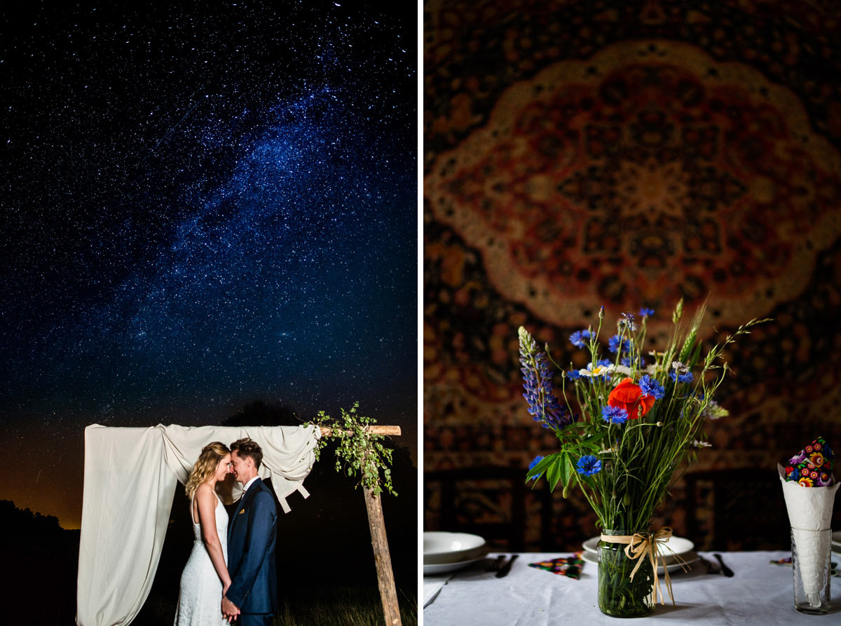 nocna sesja ślubna