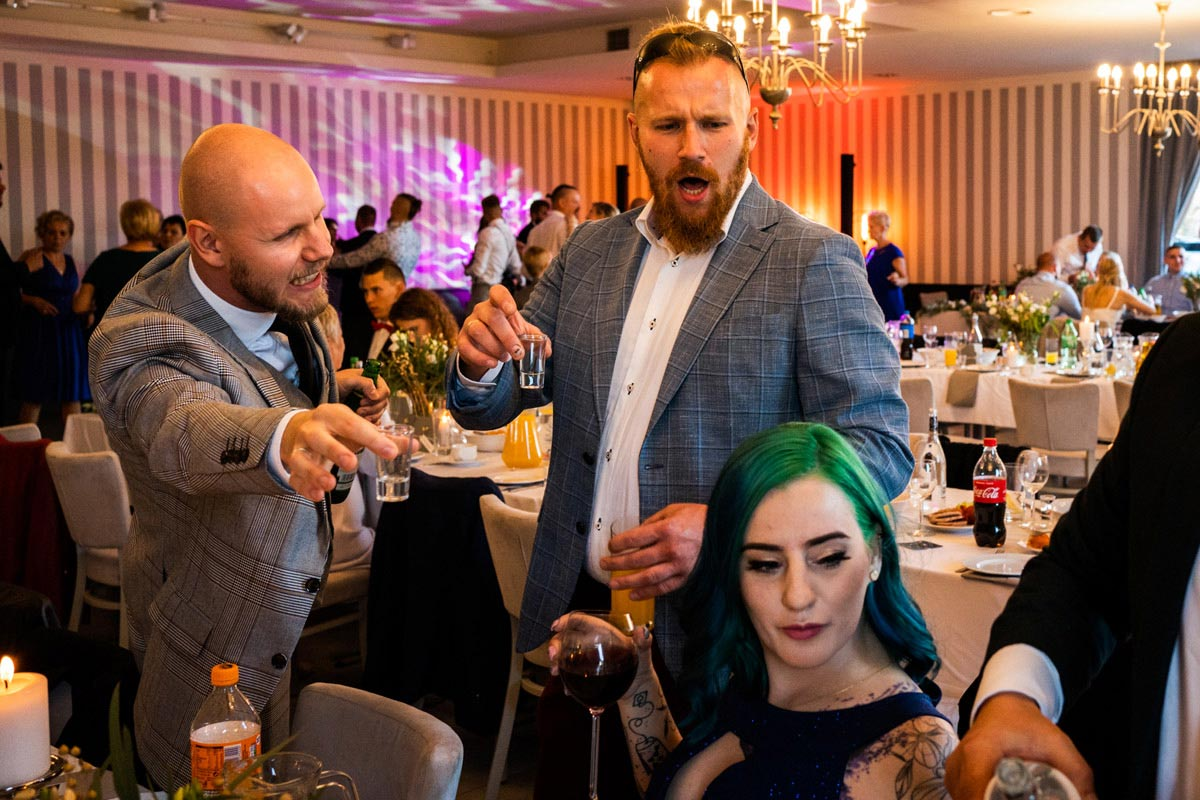 toasty na weselu